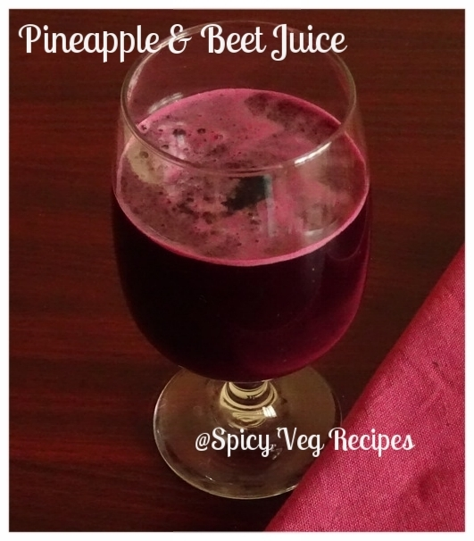 Beet and Pineapple Juice