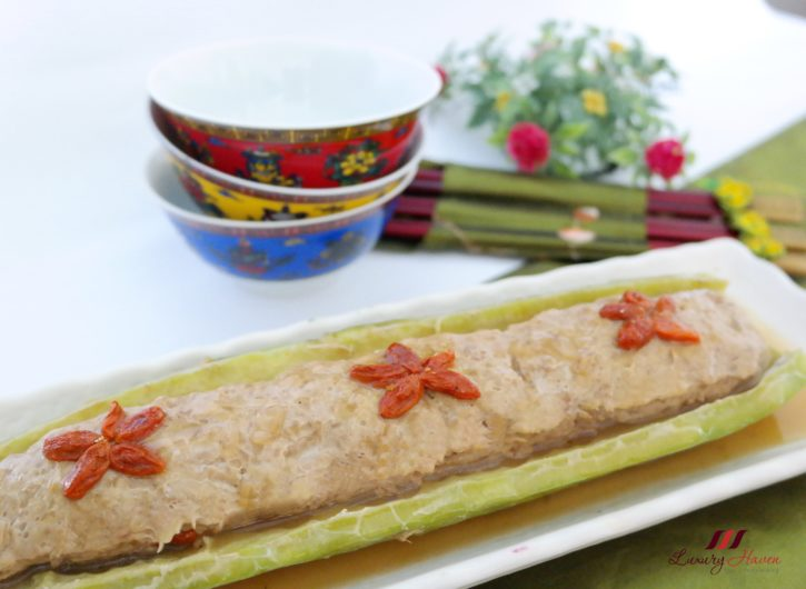 Healthy Stuffed Bitter Gourd Boat with Minced Pork