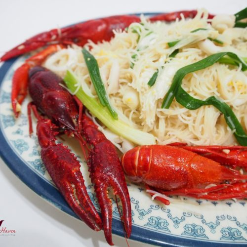 Tasty White Bee Hoon with Baby Lobsters