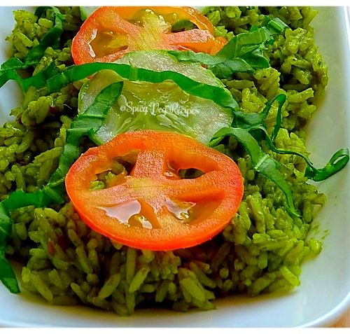 Spinach Rice Palak Chawal Recipe