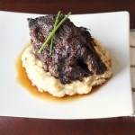 Asain Braised Short Ribs w. Cranberry Teriyaki Glaze