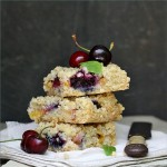 Cherry & Peach Oat Crumb Bars