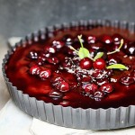 Nutella cherry tart