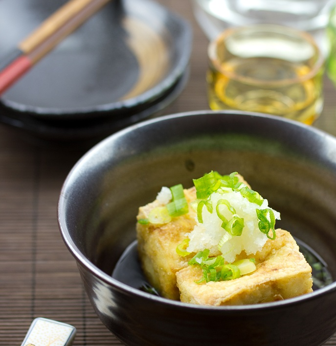 Agedashi tofu literally translates to fried tofu in dashi broth. The ...