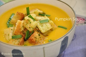 Healthier Pumpkin Soup - Fusion 