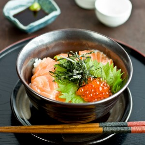 Salmon and Ikura Donburi
