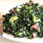 Raw Kale Salad with Avocado and Blood Orange