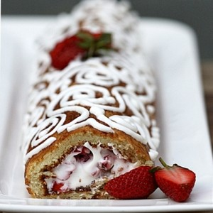 Strawberry Almond Roulade Gluten Free