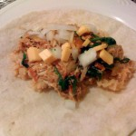 A Fast Meal - Chicken, Spinach and Rice Burritos
