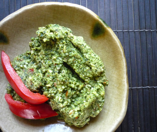 A great dip or spread: Spicy Cilantro Pesto