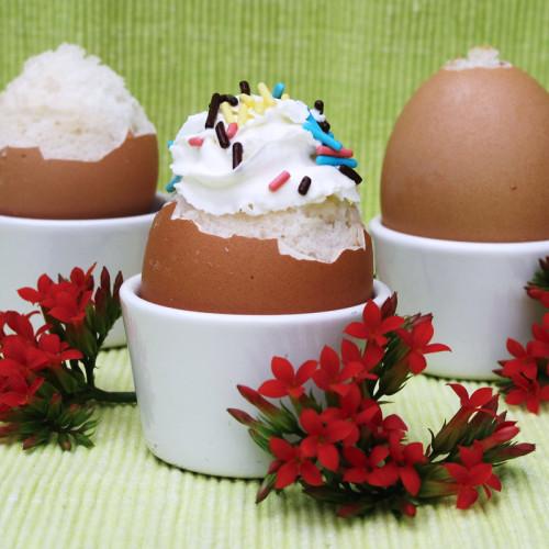 How to make cake filled eggshells