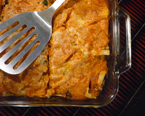 "How to make Chicken Enchilada ""lasagna"""