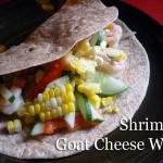 recipe: corn, shrimp and goat-cheese-wrap