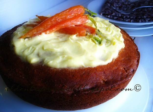 Carrot Cake with glazed baby carrots at al dente gourmet