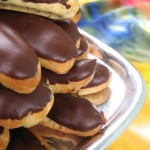 chocolate covered petite eclairs