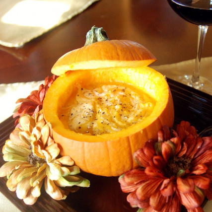 Pumpkin Soup - copyright The Novice Chef