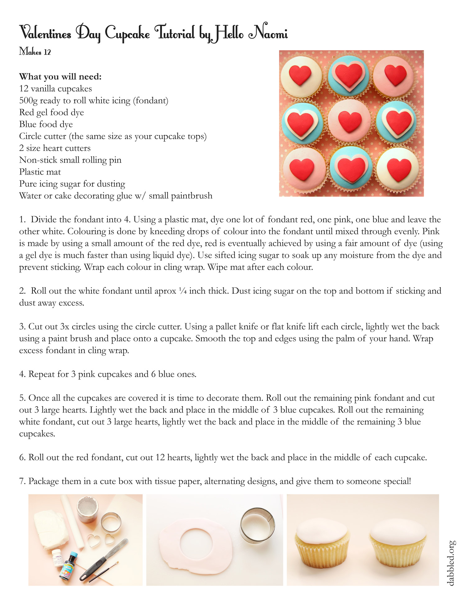 instructions how to make cupcakes