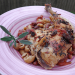 roasted basil tomato and bean chicken