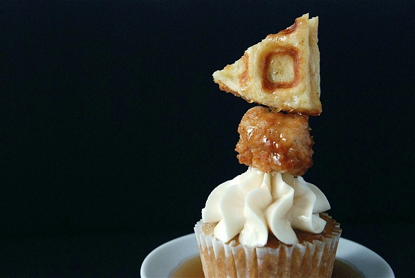 chicken and waffles cupcake