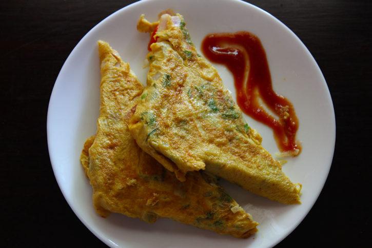 Bread Omelette Street Food Recipe
